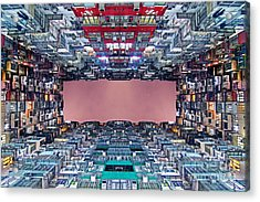 Extreme Housing In Hong Kong Acrylic Print by Lars Ruecker