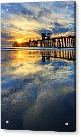 Extreme Low Tide Reflections  Acrylic Print by Donna Pagakis