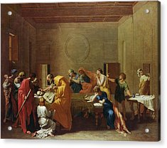Extreme Unction, C.1637-40 Oil On Canvas Acrylic Print