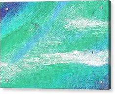 Exuberant Aqua Blue Valley Acrylic Print by L J Smith