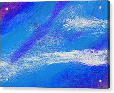 Exuberant Midnight Blue Acrylic Print by L J Smith
