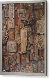 Exvotos  Acrylic Print by Paez  Antonio