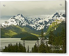 Acrylic Print featuring the photograph Eyak Lake Landscape by Nick  Boren