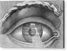 Eye Enclosing The Theatre At Besancon France Acrylic Print by Claude Nicolas Ledoux