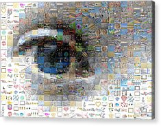 Eye Mosaic Acrylic Print by Delphimages Photo Creations