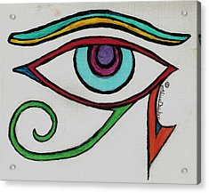 Eye Of Horus Acrylic Print by Claire Decker