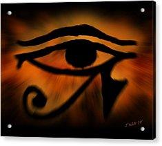 Eye Of Horus Eye Of Ra Acrylic Print by John Wills