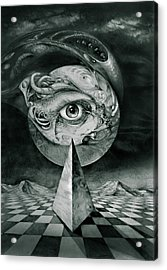 Eye Of The Dark Star Acrylic Print by Otto Rapp