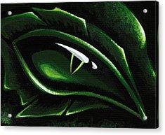 Eye Of The Emerald Green Dragon Acrylic Print by Elaina  Wagner