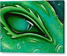 Eye Of The Green Algae Dragon Acrylic Print