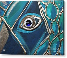 Eye Of The Peacock Acrylic Print by Cynthia Snyder