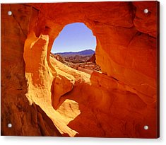 Eye Of The Rock At Valley Of Fire Acrylic Print
