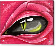 Eye Of The Rubellite Dragon Acrylic Print by Elaina  Wagner