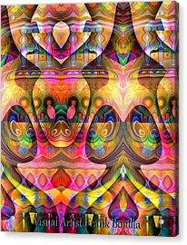 Acrylic Print featuring the digital art Eye Of The Snake by Visual Artist Frank Bonilla