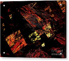 Eye Of The Storm 4 - Flying Debris - Abstract - Fractal Art Acrylic Print by Andee Design