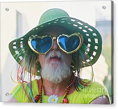 eye see Colours Of Specs Of Love At Southern Decadence In New Orleans Louisiana Acrylic Print by Michael Hoard