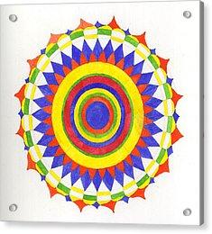 Eye World Mandala Acrylic Print by Silvia Justo Fernandez