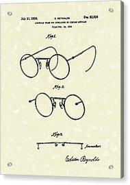 Eyeglass Frame 1934 Patent Art Acrylic Print