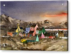 Eyeries Village Beara West Cork Acrylic Print