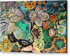 Eyes In Hiding Acrylic Print by Anne-Elizabeth Whiteway