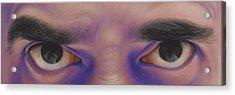 Eyes In The Mirror - Pastel Acrylic Print by Ben Kotyuk