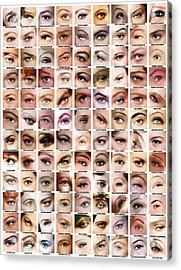 Eyes Of Hollywood - Old Era Acrylic Print by Taylan Apukovska