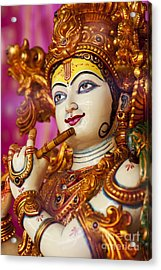Eyes Of Krishna Acrylic Print by Tim Gainey