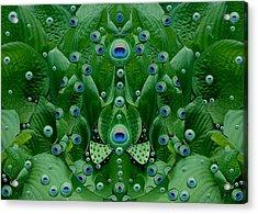 Eyes Of The Hidden Peacock Acrylic Print