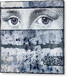 Eyes On Blue Acrylic Print by Carol Leigh