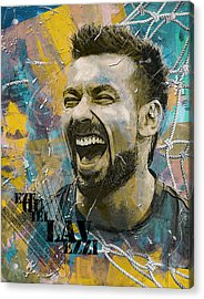 Ezequiel Lavezzi Acrylic Print by Corporate Art Task Force