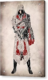 Ezio - Assassin's Creed Brotherhood Acrylic Print by Ayse Deniz