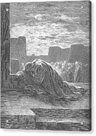 Ezra In Prayer Acrylic Print by Gustave Dore