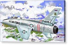 F-100 D Super Sabre Acrylic Print