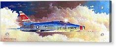 F-100d Super Sabre Acrylic Print