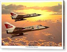 F-106 Delta Dart Intercept Acrylic Print by Mark Karvon