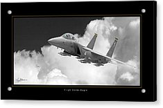 F-15e Strike Eagle Acrylic Print by Larry McManus