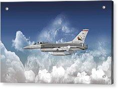 F-16c Falcon Acrylic Print by Arthur Eggers