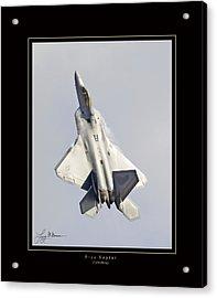 F-22 Raptor Tailwalking Acrylic Print by Larry McManus