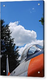 Acrylic Print featuring the photograph F-860 Saber Jet Interception by Ramona Whiteaker