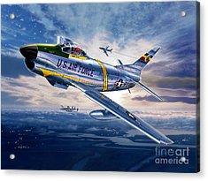 F-86d Sabre Dog Acrylic Print by Stu Shepherd