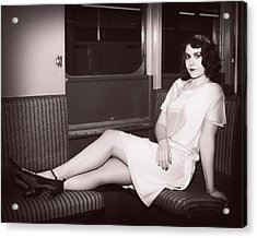 F Line Is For Flappers Acrylic Print by Jim Poulos