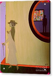 Acrylic Print featuring the painting F Scott Waiting For Zelda by Bill OConnor