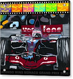 F1 Alonso Wins Monaco 2008 Pop 2 Acrylic Print