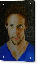 F1 Jenson Button Acrylic Print by David Hawkes