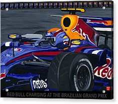 F1 Rbr At The Brazilian Grand Prix Acrylic Print