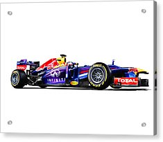 Acrylic Print featuring the photograph F1 Red Bull Rb9 by Gianfranco Weiss