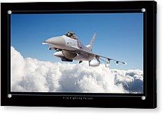 F16 Fighting Falcon Acrylic Print by Larry McManus