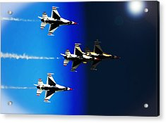 F16 Flight Into Space Acrylic Print by DigiArt Diaries by Vicky B Fuller