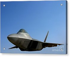 F22 Raptor  Acrylic Print by Olivier Le Queinec