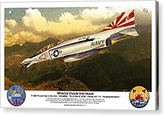 F4-phantom Wings Over Vietnam Acrylic Print